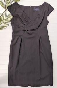 Anne Klein Wrap-Front Cap Sleeved Sheath Dress
